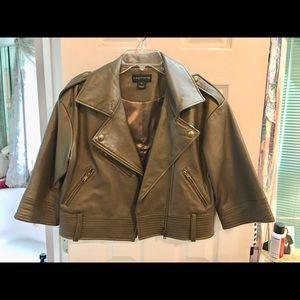 Bagatelle leather jacket short waisted.